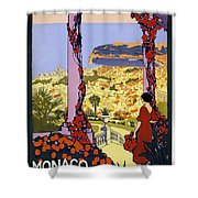 Monaco, Monte Carlo, View From Hotel Terrace Shower Curtain