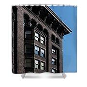Monadnock Building Cornice Chicago B W Shower Curtain