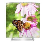 Monarch Butterfly Art Shower Curtain