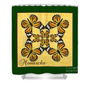 Monarch Butterfly Pin Wheel Shower Curtain