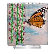 Monarch Heaven Shower Curtain