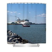 Monarch Of The Seas At Port Canaveral In Florida Shower Curtain