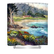 Monastery Beach, Carmel Shower Curtain