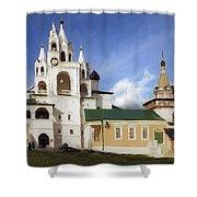 Monastery In Zvenigorod, Russia Shower Curtain