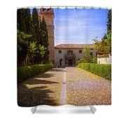 Monastery Of Saint Jerome Approach Shower Curtain