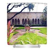 Monastery Of St. Bernard De Clairvaux Garden Shower Curtain