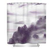 Monchrome 1 Shower Curtain