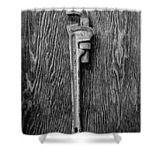 Moncky Wrench Bw Shower Curtain