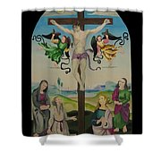 Mond Crucifixion Shower Curtain