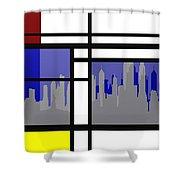 Mondrian In N Y Shower Curtain