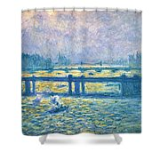 Monet: Charing Cross Shower Curtain