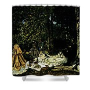 Monet Dejeuner Sur L Herbe A Chailly Shower Curtain