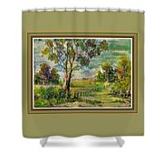Monetcalia Catus 1 No. 3 Landscape Scene Near Fontainebleau L B With Alt. Decorative Printed Frame. Shower Curtain