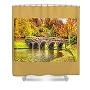 Monetcalia Catus 1 No. 9 - Monet Decides To Paint The Arched Bridge At Stourhead. L A S Shower Curtain