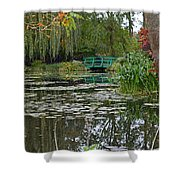 Monet's Bridge At Giverny, France Shower Curtain