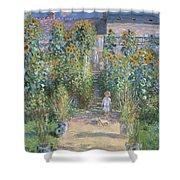 Monet's Garden At Vetheuil Shower Curtain