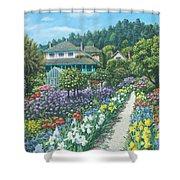 Monet's Garden Giverny Shower Curtain