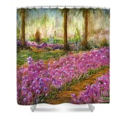 Monet's Garden In Cannes Shower Curtain
