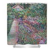 Monet's Gardens Shower Curtain