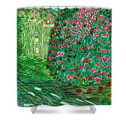 Monet's Parc Monceau Shower Curtain