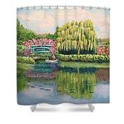 Monet's Summer Garden No.2 Shower Curtain
