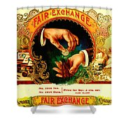 Money Cigar Label Shower Curtain