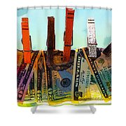 Money Laundering  Shower Curtain by Karon Melillo DeVega