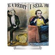 Money Lending, 1870 Shower Curtain