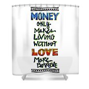 Money Only Shower Curtain