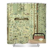 Money Restrooms Shower Curtain