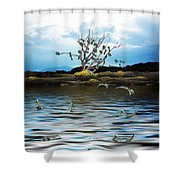 Money Tree On A Windy Day Shower Curtain