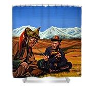 Mongolia Land Of The Eternal Blue Sky Shower Curtain