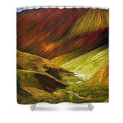 Mongolian Landscape Shower Curtain