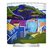 Monhegan Harbor Shower Curtain