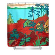 Monhegan Hue Shower Curtain