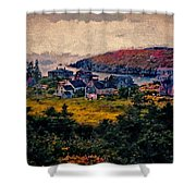 Monhegan Island Maine Shower Curtain