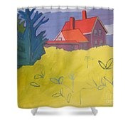 Monhegan Light Shower Curtain