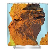 Monkey Face Pillar At Smith Rock Closeup Shower Curtain