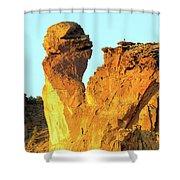 Monkey Face Pillar At Smith Rock Shower Curtain