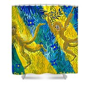 Monkeys And Sunbeams Shower Curtain