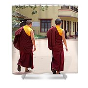 Monks Shower Curtain