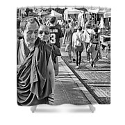 Monks Out And About Shower Curtain