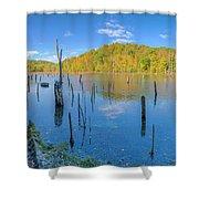 Monksville Reservoir Fall 2016 Shower Curtain