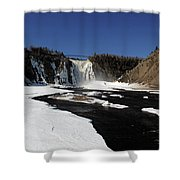 Montmorency Fall, Winter Shower Curtain