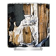 Mono Hut Wall Shower Curtain