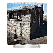 Mono Huts Shower Curtain