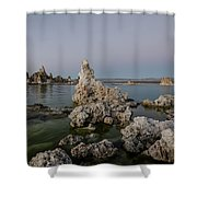 Mono Lake At Dusk Shower Curtain by Margaret Pitcher