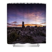 Mono Lake Sunset 5 Shower Curtain