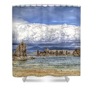 Mono Lake Tufas And Clouds Shower Curtain