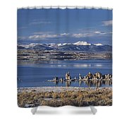 Mono Lk Winter Shower Curtain